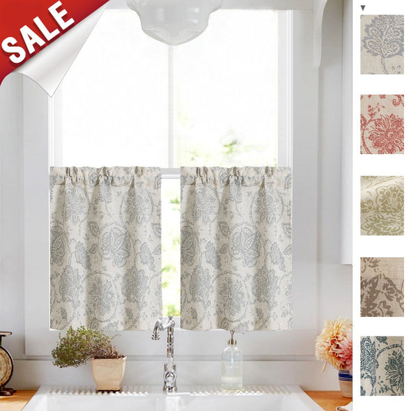 Sheer Curtains for Living Room Length Bedroom Window Curtain 1Pair