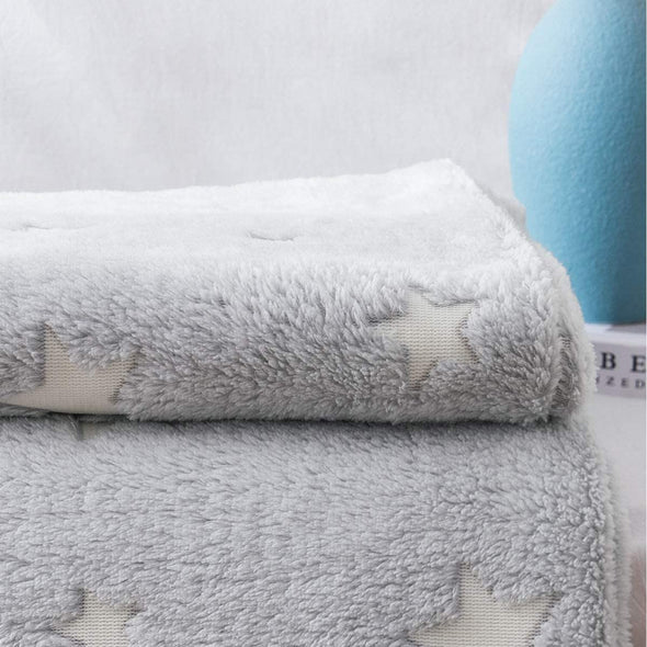 A Soft Star Grey Throw Blanket Can Glow in The Dark