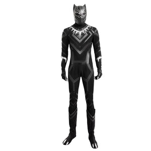 Black Panther Cosplay Costume Captain America 3 Civil War Replica T Challa Costume for Adults