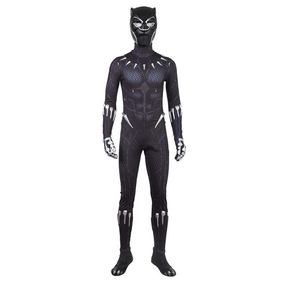 Black Panther Movie Costume T Challa Cosplay Jumpsuit For Men