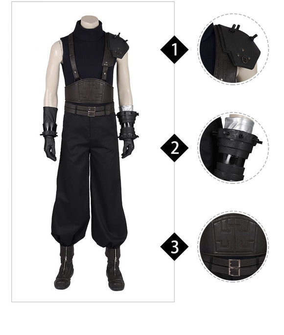 Cloud Strife Cosplay Costume Final Fantasy VII Remake Cosplay outfit for Adult Men