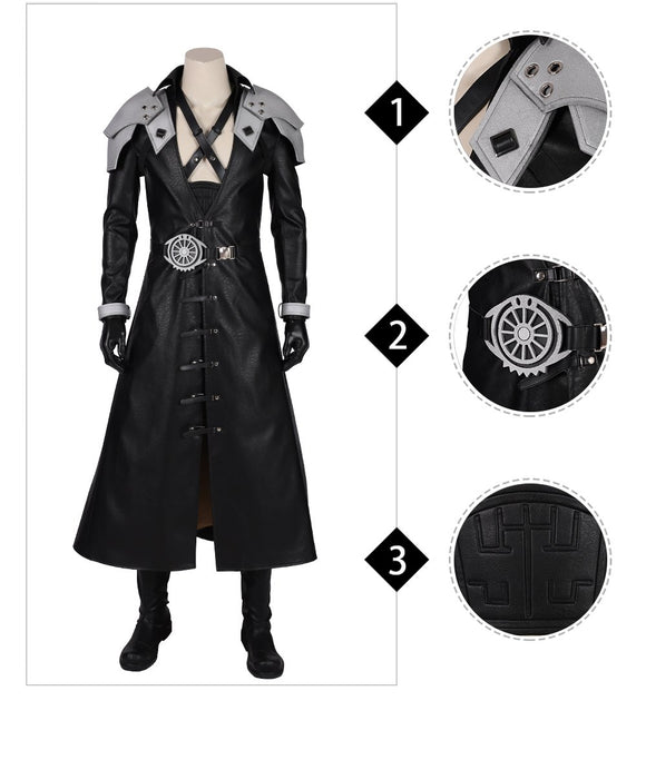 Sephiroth Cosplay Costume Final Fantasy VII Remake Replica outfit for Adult Men 2019 Halloween