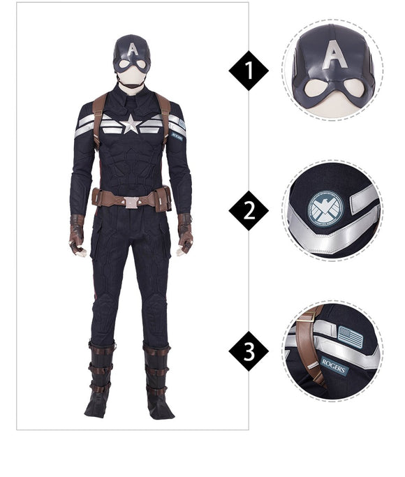 Captain America Steve Rogers Cosplay Costume The Avengers 4 Endgame replica outfit