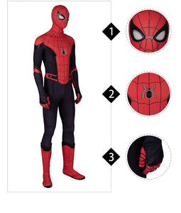Peter Parker black and red costume Spider Man Far From Home Replica Costume