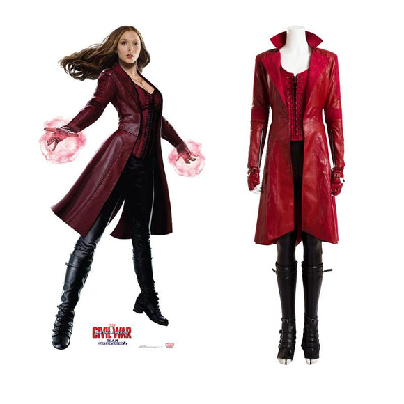 Wanda Maximoff Scarlet Witch Corset civil war cosplay costume