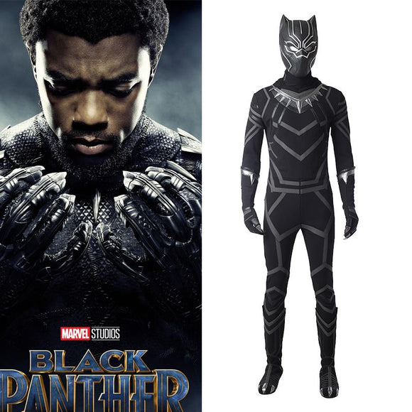 Black Panther Movie Costume T Challa Cosplay Costume For Adults