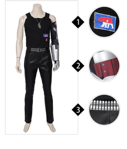 Johnny Silverhand Costume Keanu Reeves Cyberpunk 2077 Cosplay Suit Full Set Halloween Costume 2019 for Men