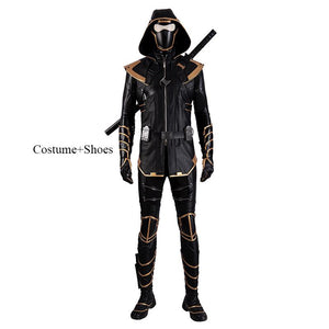 Hawkeye Ronin suit Avengers 4 Endgame ninja cosplay costume with hood for men 2019 halloween
