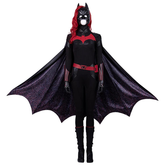 Katherine Kane Cosplay Costume Batwoman superhero tv series Kate Black and Red cosplay costume