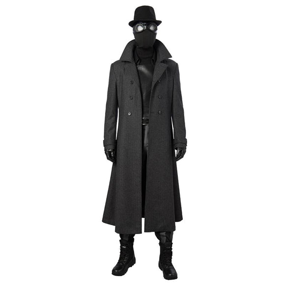 Spider man Noir Cosplay Costume Into the Spider-Verse replica outfit for adult men with shoes