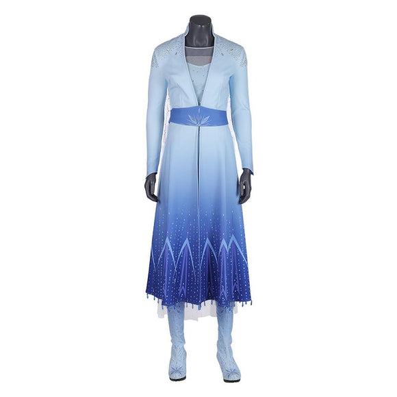 Elsa Cosplay Costume Frozen 2 Disney Princess Cosplay Costume for Girls 2019 halloween