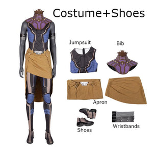 Princess Shuri Costume Black Panther Replica outfit for Adult Women