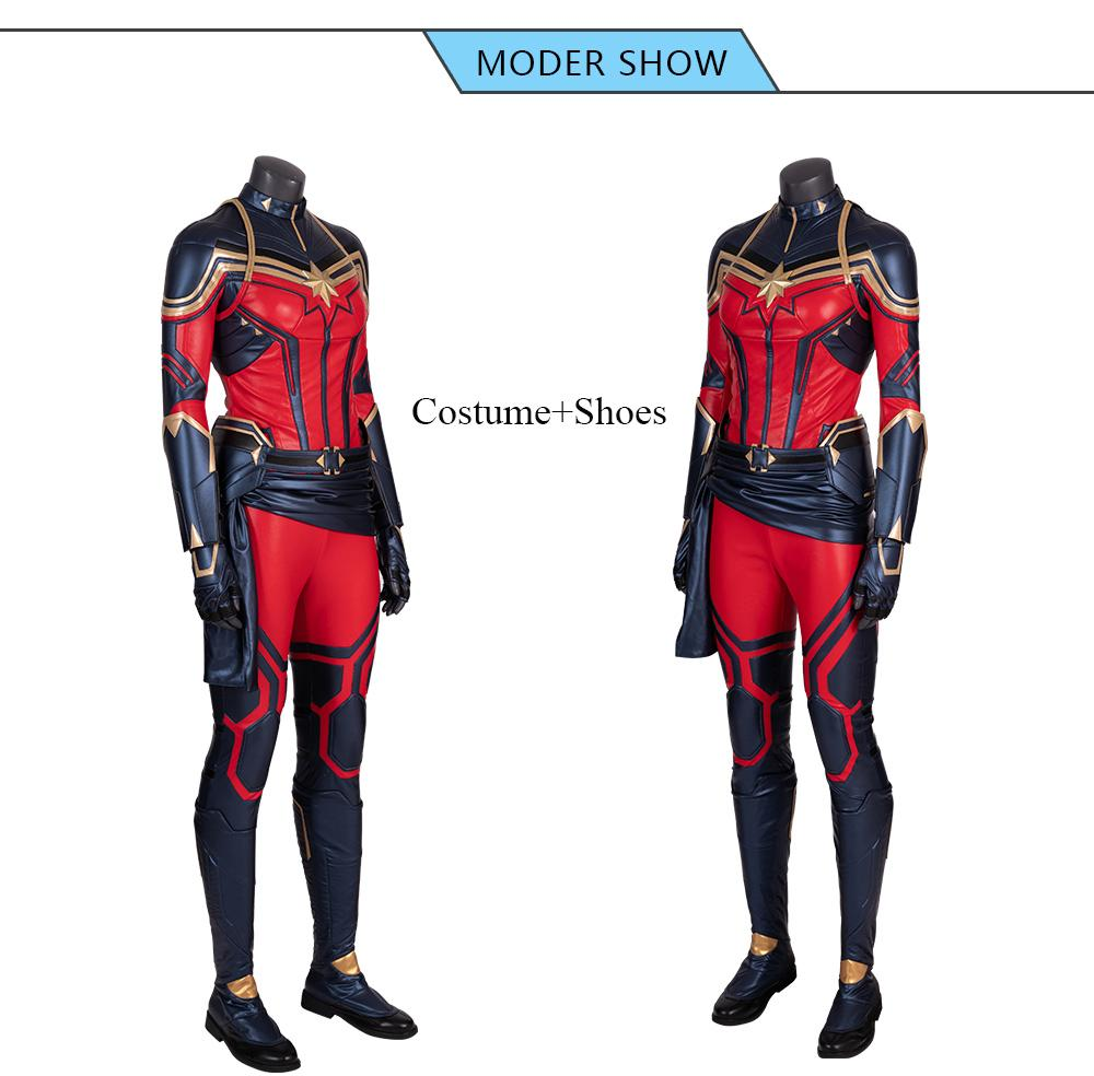 Captain Marvel Carol Danvers Cosplay Costume Avengers 4 Endgame Cgi Co Alphacosplay Pls email us if you need the costume, wig, shoes, weapon or other accessories of this character. usd
