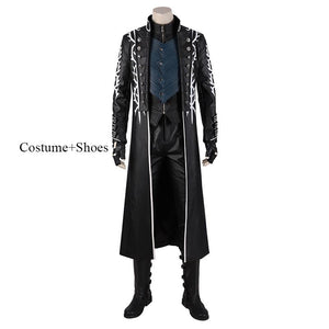 DMC5 Vergil Cosplay Costume Devil May Cry 5 replica costume with shoes