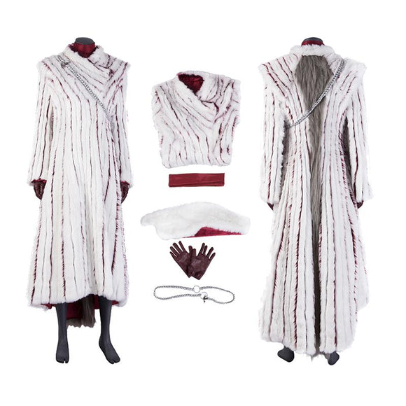 Daenerys Targaryen Winter coat halloween costume Game of Thrones 8 replica costume (B)