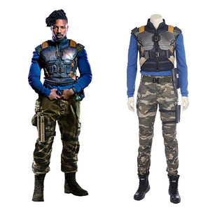Black Panther Movie Costume Erik Killmonger Suit Replica For Men