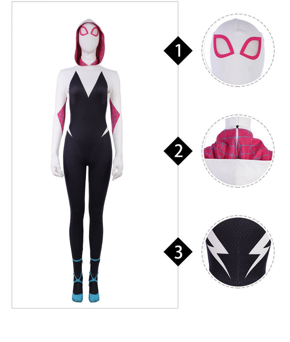 Spider Women Gwen Stacy Cosplay Costume Spider-Man Into the Spider-Verse replica costume