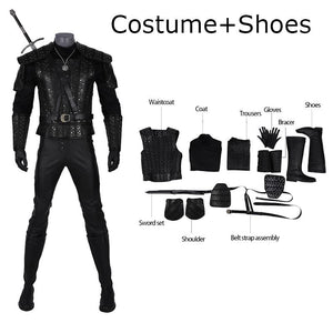 Geralt of Rivia Cosplay Costume The Witcher Netflix TV Series outfit for Men 2019 Halloween