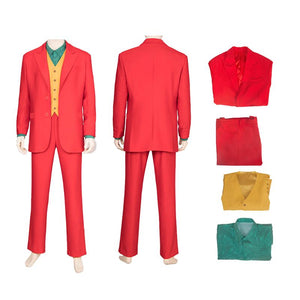 Joaquin Phoenix outfit Joker 2019 Clown Cosplay Costume for Adult