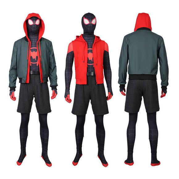 Miles Morales Cosplay Costume Spider-Man Into the Spider-Verse replica costume