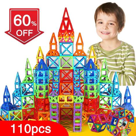 Magnetic Building Construction Toys Set-110-252 With Or Without Box