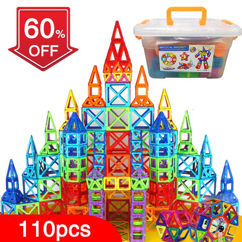 Magnetic Building Construction Toys Set - With Box