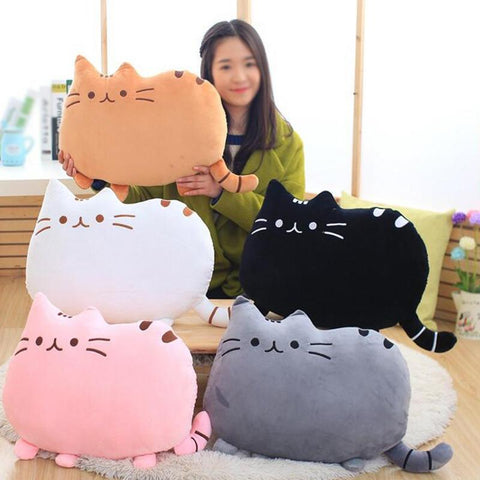 Kawaii Biscuits Cat Pillow