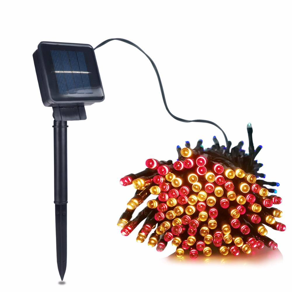 LED Solar-Powered Fairy Lights