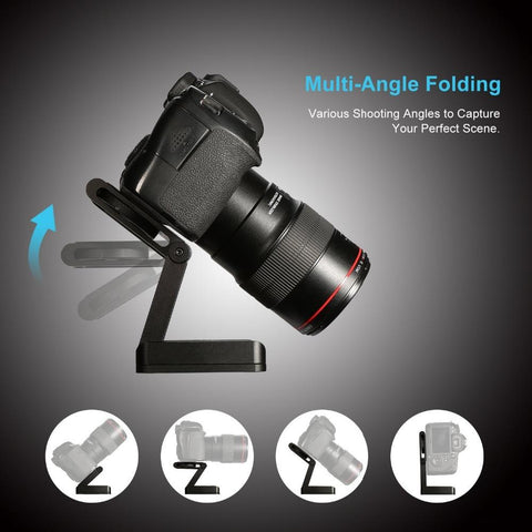 Professional Camera Pan & Tilt Aluminum Folding Tripod