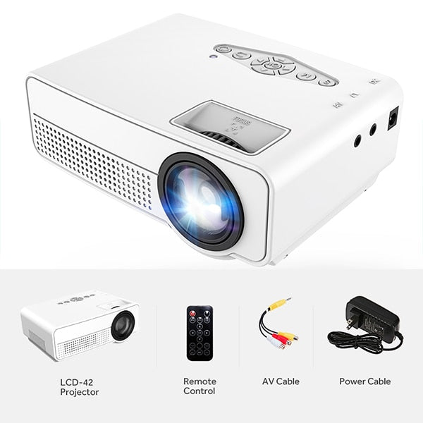 MINI Projector LCD42 HDMI USB AV SD. 700 Lumens Theater Projector