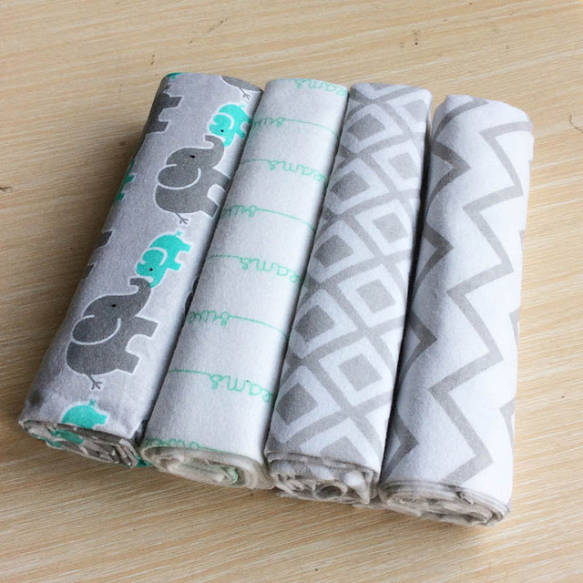 2d8595d88f88 ruyi bebe 4Pcs Pack 100% cotton supersoft flannel receiving baby ...
