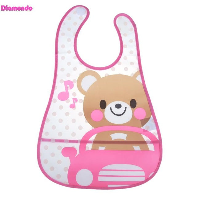 Mother & Kids Waterproof Baby Silicone Bibs Burp Cloths Toddler Kids Adjustable Feeding Apron Saliva Bandana Accessories