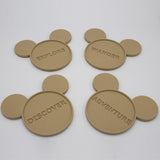 Coasters with Character (4pc set) - Drink Coasters