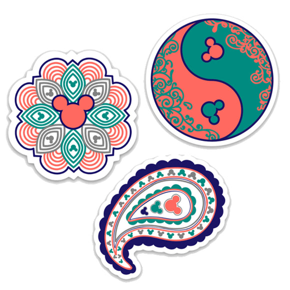3 Pack BOHO Themed Decals