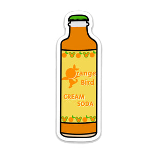 Orange Bird Cream Soda Bottle Decal