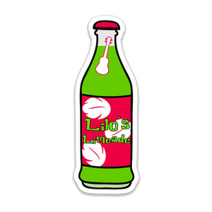 Lilo Limeade Soda Bottle Decal