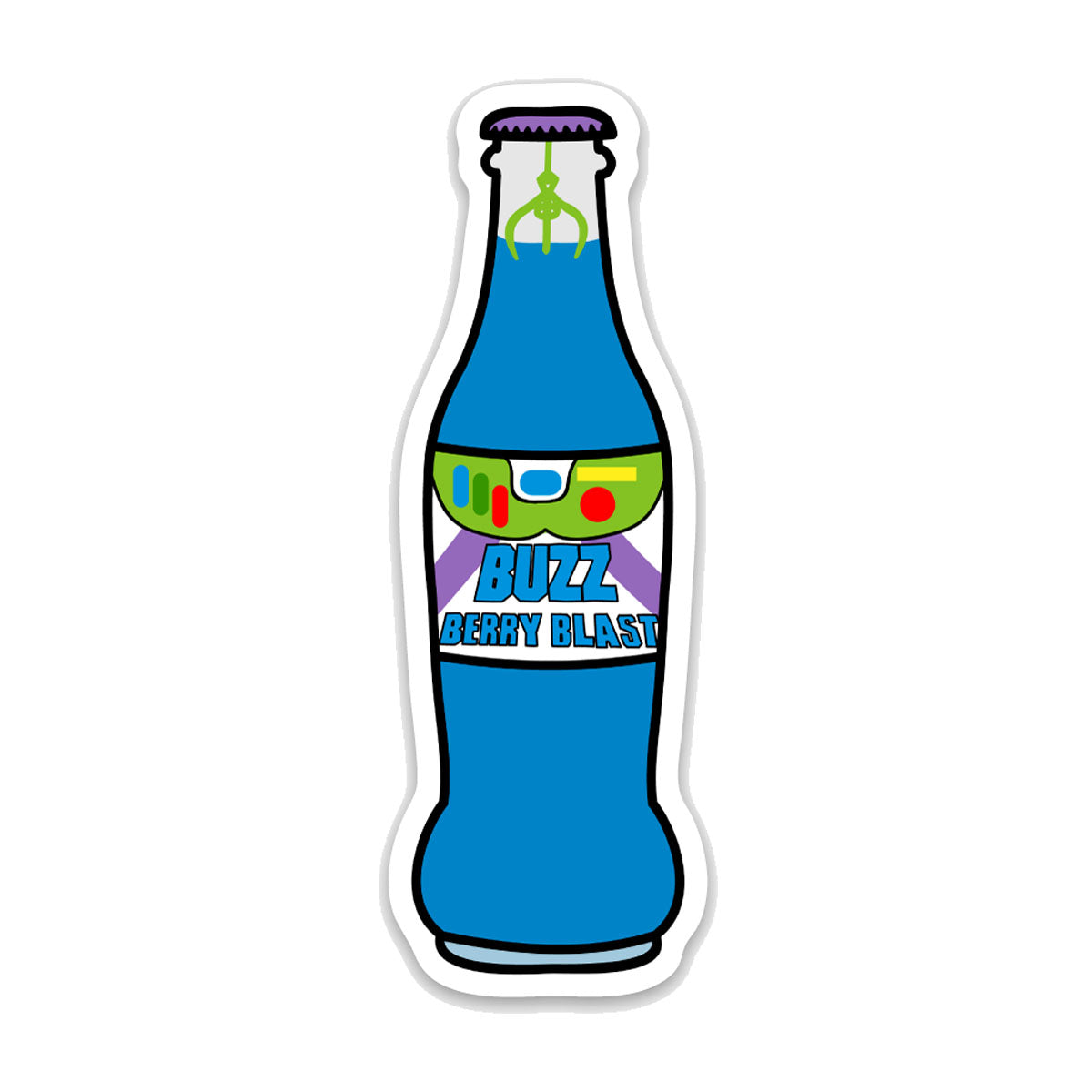 5 Pack Soda Bottle Decals