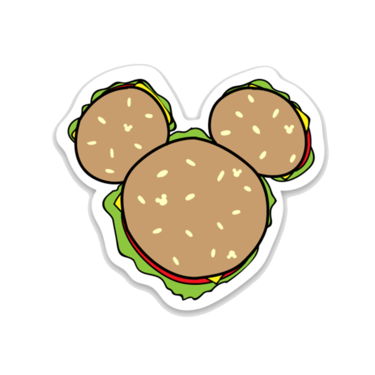 Mouse Ears Burger Decal