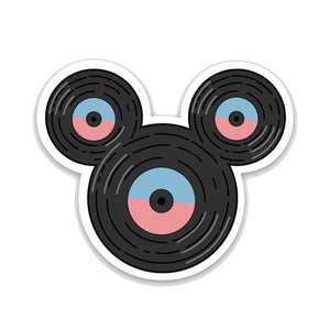 "Vinyl ""Mouse"" Record Decal"