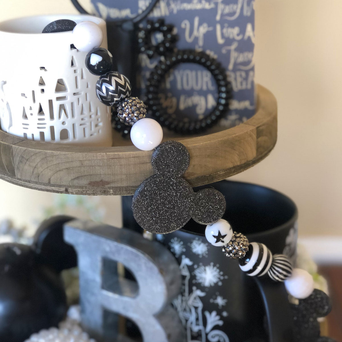 Black and White Character Garland