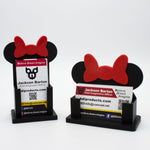 Load image into Gallery viewer, Minnie Bow Add-On for BizEarNess Business Card Holder - BOW ONLY
