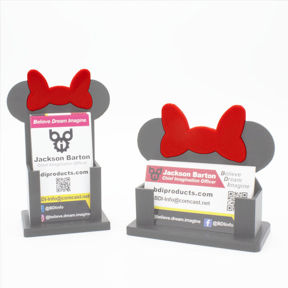Minnie Bow Add-On for BizEarNess Business Card Holder - BOW ONLY