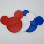 Load image into Gallery viewer, Red-White-Blue Independence Day Coasters with Character (3pc set) - Drink Coasters
