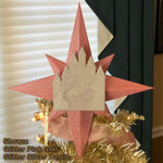 Load image into Gallery viewer, Custom Color Christmas Tree Topper - Star with Castle (FREE SHIPPING)