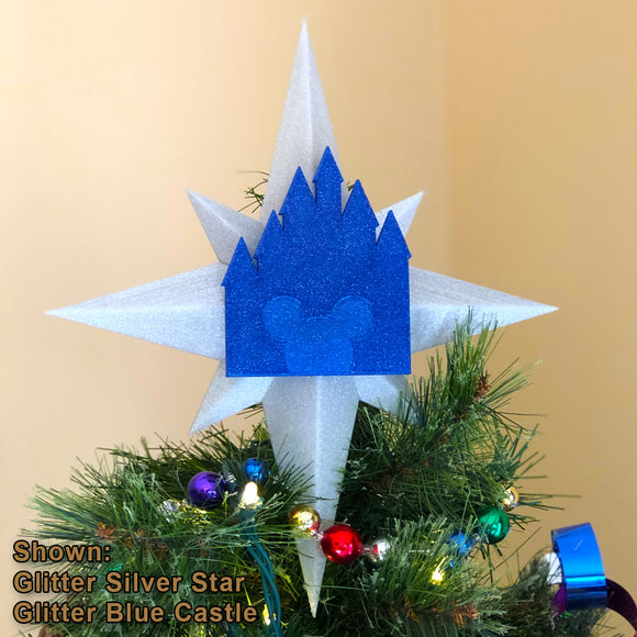 Custom Color Christmas Tree Topper - Star with Castle