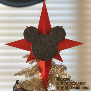Custom Color Christmas Tree Topper - Star with Icon