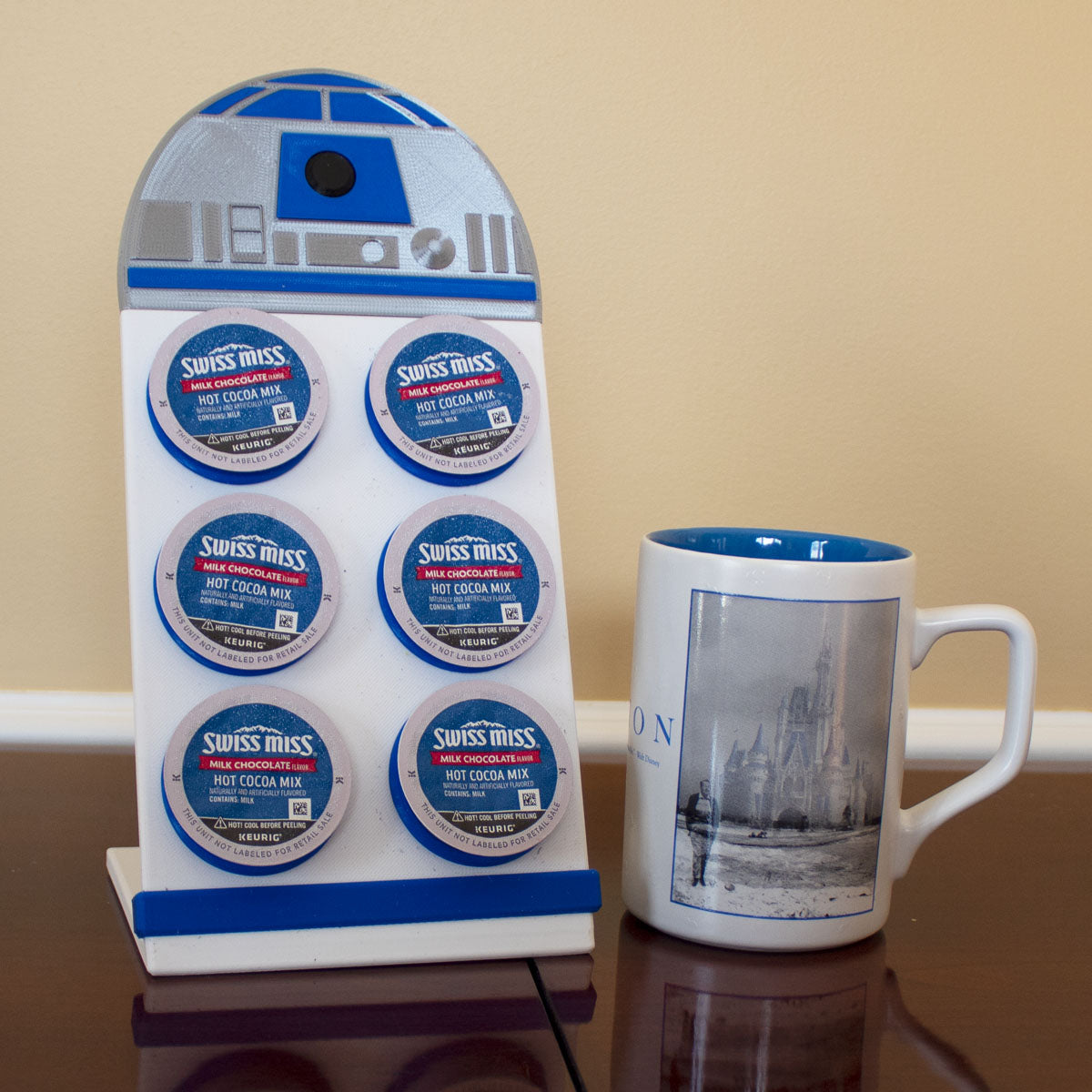 Blue Mech Droid Character Coffee Pod Holder - (FREE SHIPPING)