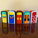 Load image into Gallery viewer, Fab 5 Set of Character Desktop Trash Cans (5 pc set - FREE SHIPPING)