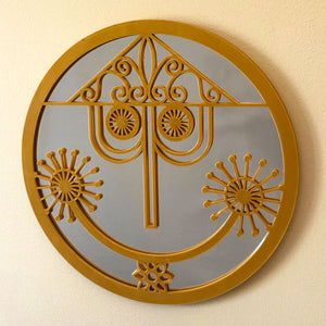 "Small World Clock Face 10"" Mirror (FREE SHIPPING)"