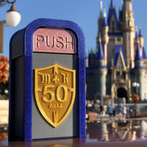 MK 50th Anniversary Castle Desktop Trash Can